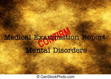 Mental disorder confirm