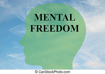 Mental Freedom concept