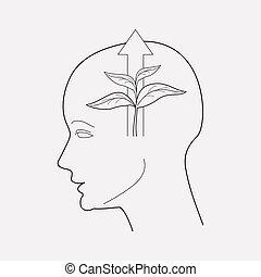 Mental growth icon line element. illustration of mental growth icon line isolated on clean background for your web mobile app logo design.