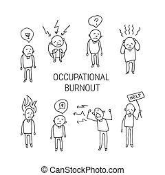 mental health-01 - Occupational burnout syndrome symbols....