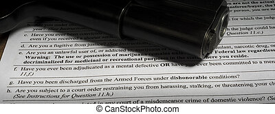 Mental health and dishonorable discharge question on gun background check