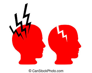 Mental health - brain damage, pain headache
