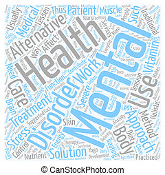 mental health care text background wordcloud concept