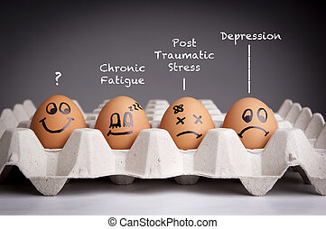 Mental Health Concept - Mental health concept in playful...