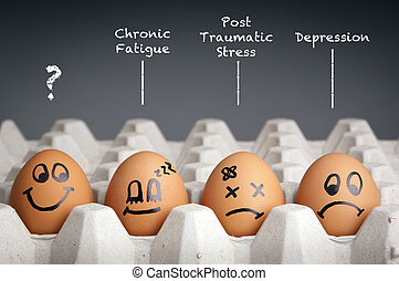 Mental Health Concept - Mental health concept in playful ...