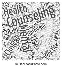 mental health counseling Word Cloud Concept