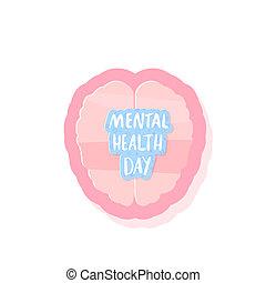 Mental Health Day. Vector illustration.
