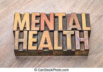 mental health in letterpress wood type