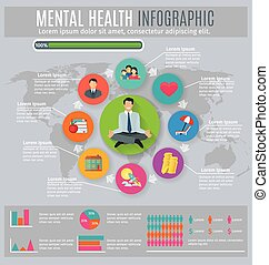 Mental health infographic presentation design