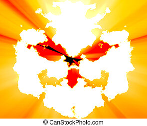 Mental health inkblot background