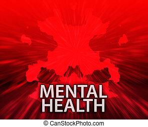 Mental health inkblot background
