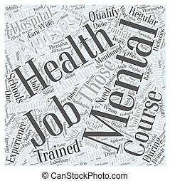 mental health jobs Word Cloud Concept