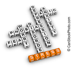 mental health (orange-white crossword puzzles series)