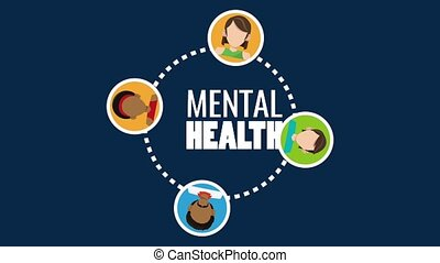 Mental health people HD animation - Mental health with...