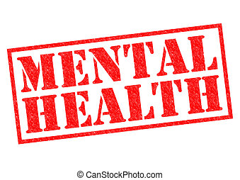 MENTAL HEALTH red Rubber Stamp over a white background.