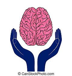 mental health sign vector human brain as concept