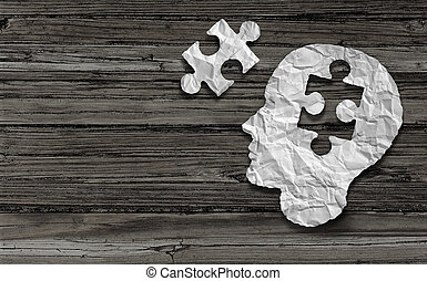 Mental Health Symbol - Mental health symbol Puzzle and head...