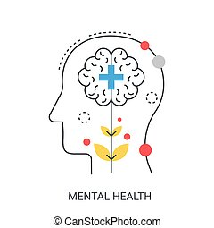 Mental health vector illustration concept.