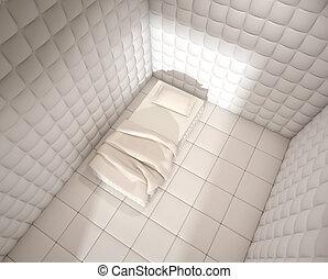 mental hospital padded room from above - mental hospital...