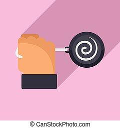 Mental hypnosis pendulum icon. Flat illustration of mental hypnosis pendulum vector icon for web design