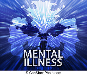 Mental illness inkblot background - Psychiatric treatment...
