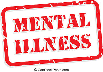 Mental Illness Rubber Stamp - Mental illness red rubber...