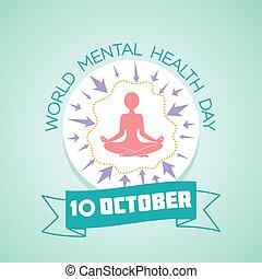 mental, mundo, saúde, 10, dia
