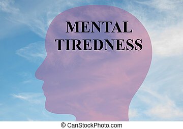 Mental Tiredness concept
