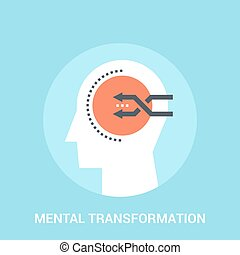 mental transformation icon concept