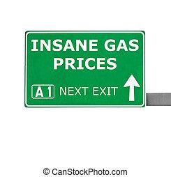 mentalsjuk, gas, isolerat, underteckna, priser, vit, väg