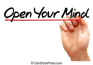 mente aberta, seu