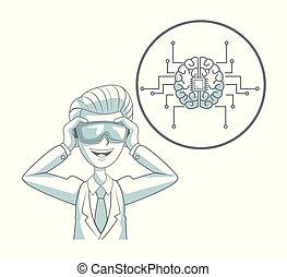 mente, control, tecnología