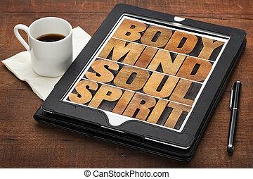 mente, cuerpo, alma, espíritu