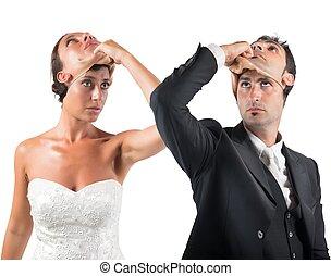 menteur, mariage