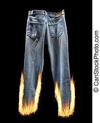 menteur, menteur, brûler, pantalon