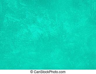 menthe., concreto, moderno, color de textura, agua, toned, fondo., pared, estuco