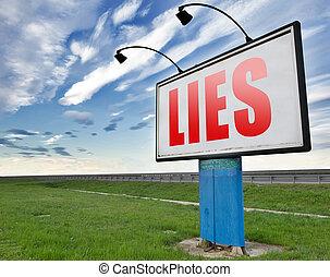 mentiras, deshonestidad