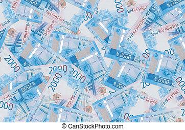mentiras, plano de fondo, vida, pile., rublos rusos, rico, cuentas, conceptual, 2000, grande