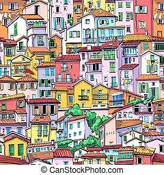 menton, 古い 町, フランス