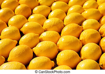 Menton #8 - Background of lemons.