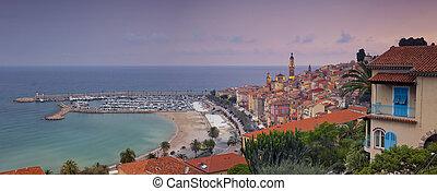 Menton. - Panoramic image of Menton, French Riviera during...