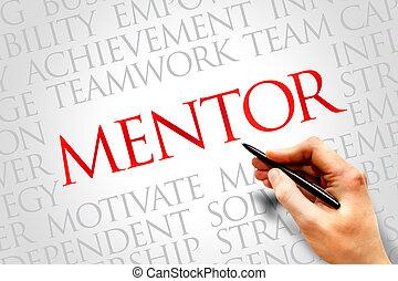 Mentor word cloud, business concept