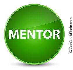 Mentor elegant green round button