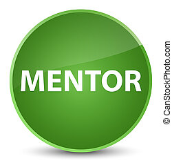 Mentor elegant soft green round button