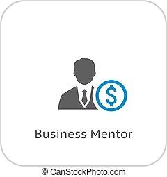 mentor, icon., empresa / negocio, concept.