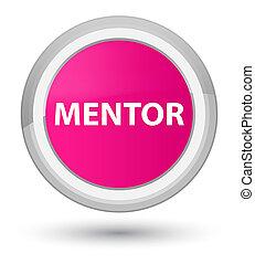 Mentor prime pink round button