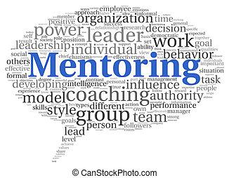 mentoring , γενική ιδέα , λέξη , σύνεφο , ετικέτα