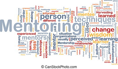 Mentoring background concept - Background concept wordcloud...