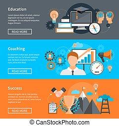 Mentoring Coaching Banners - Horizontal mentoring coaching...