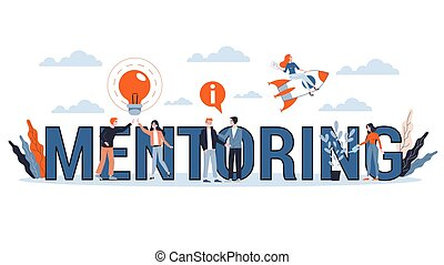 Mentoring concept. Giving advice for career success